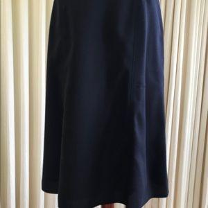 J. Crew Navy Blue Wool A-Lind Skirt